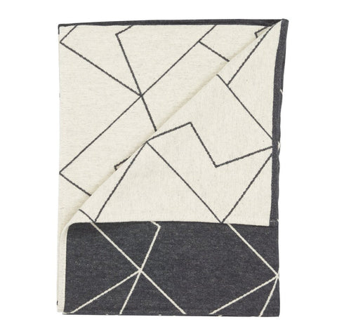Grey & Cream Graphic Throw