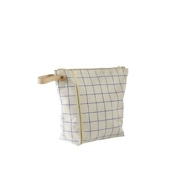 Gold Striped Washbag