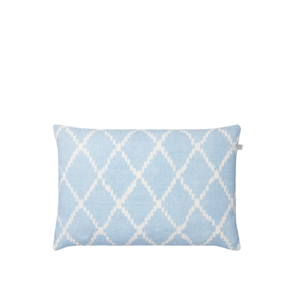 IKAT Kerela Cushion - Blue & Cream
