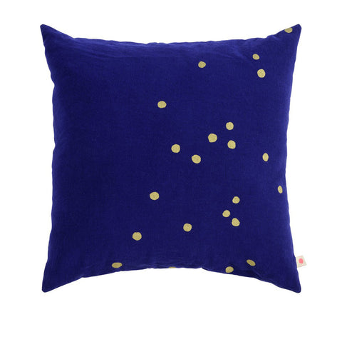 Navy & Gold Spot Floor Cushion