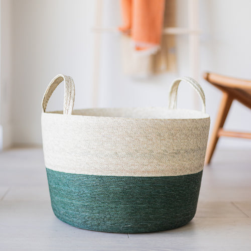 Storage Basket with Handles cactus