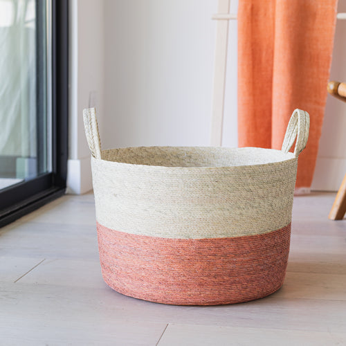 Storage Basket with Handles calabaza
