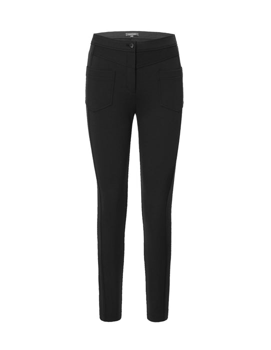 MARYLING Black Spandex Knitted Slim Fit Pants