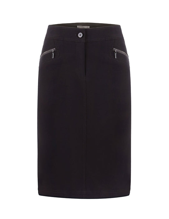 MARYLING Casual Zip Pocket Slim Fit Pencil Skirt