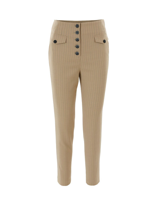 MARYLING Elegant Button Slim Fit Suit Trousers