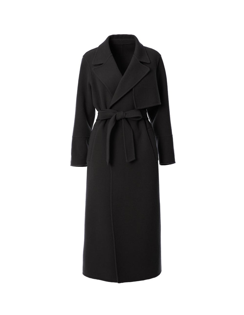 Wool maxi coat with tie waist belt (5561346523296)