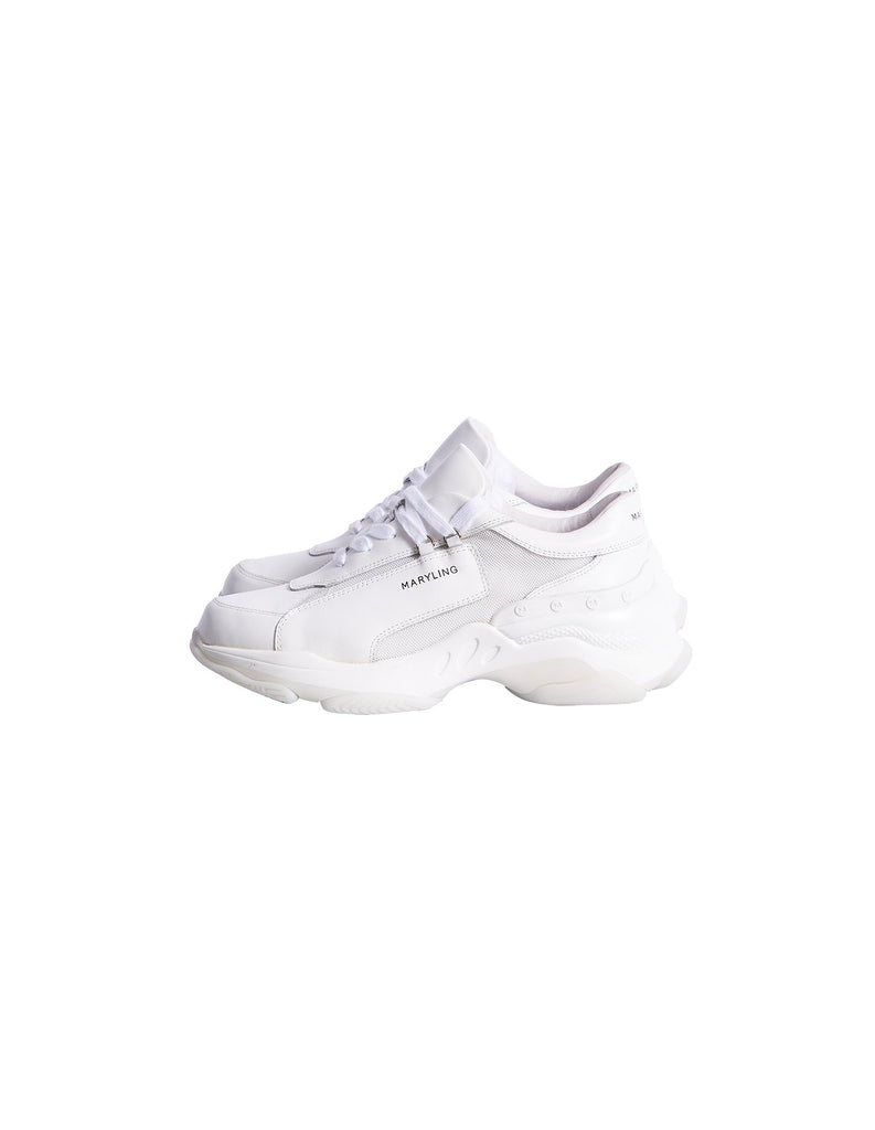 MARYLING White Leather Sport Shoes