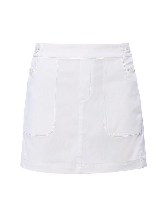 MARYLING Cotton Blend Slim Fit Mini Skirt