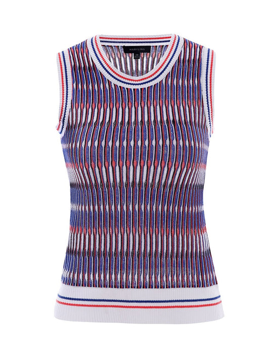 MARYLING Multi-color Stripe Sleeveless Knitted Vest