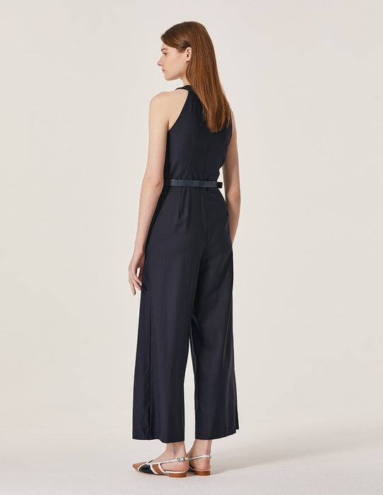 MARYLING Stand Neck Sleeveless Wide Leg Jumpsuit