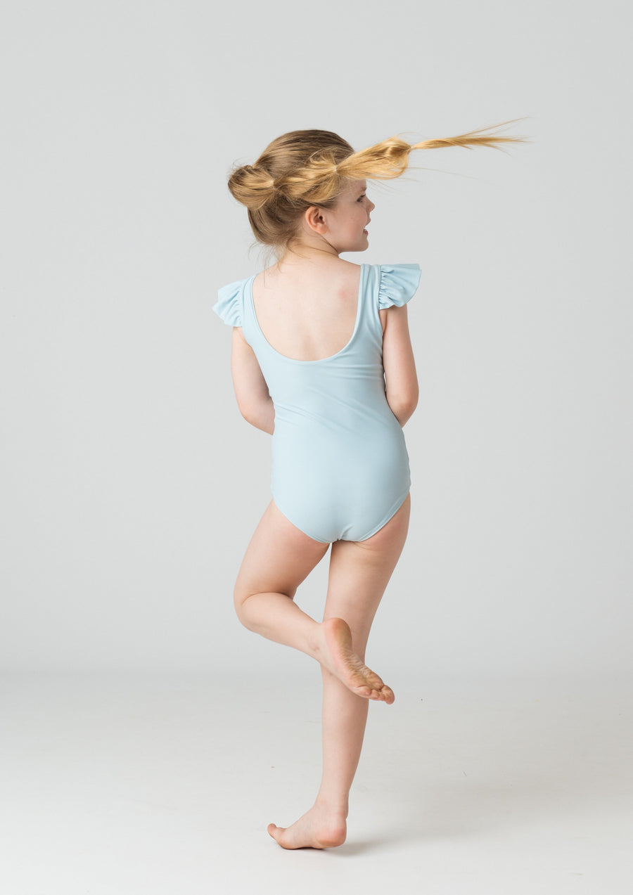 Leonor Girls One Piece in Aquamarine