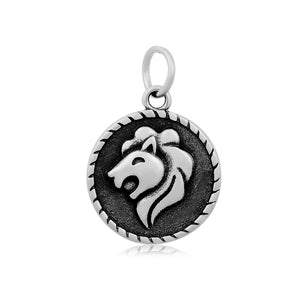 Leo The Lion Zodiac Charm Me Stainless Steel Necklace