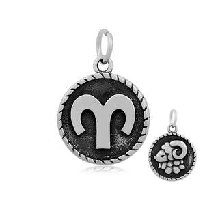 Aries Ram Zodiac Charm Me Stainless Steel Necklace