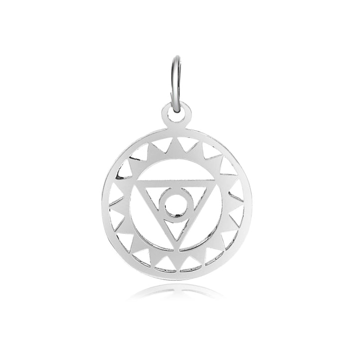5th Chakra, Vishuddha, Charm Me Stainless Steel Necklace