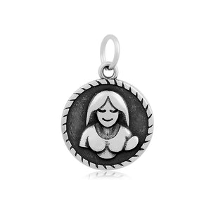 Virgo The Virgin Zodiac Charm Me Stainless Steel Necklace