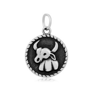 Taurus The Bull Zodiac Charm Me Stainless Steel Necklace