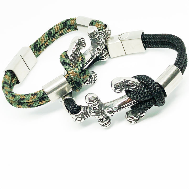 Pirates Anchor Stainless Steel Bullmaster Bracelet