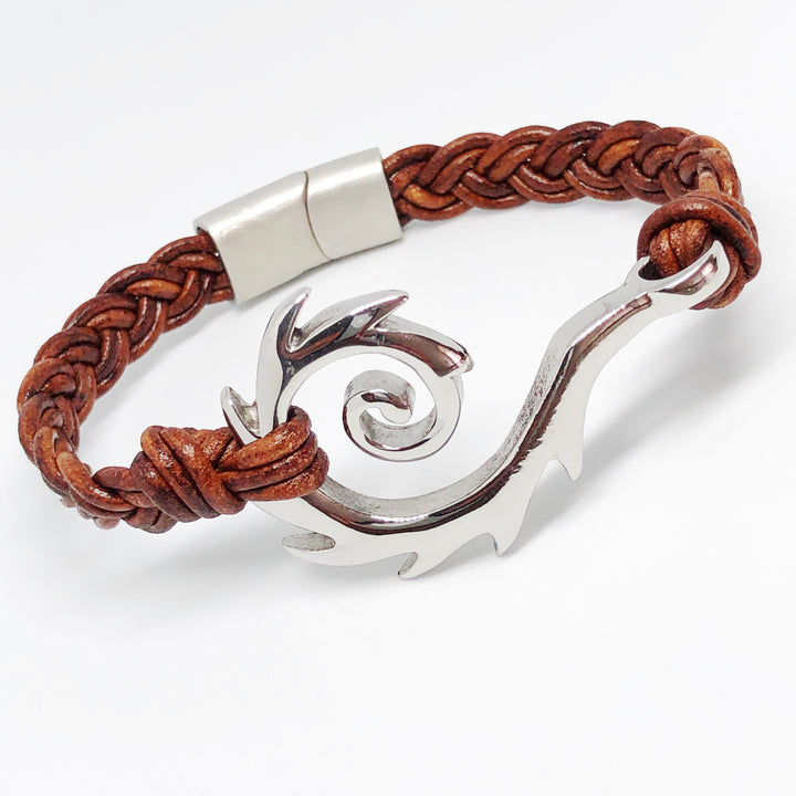 Rip Curl Braided Leather Bracelet