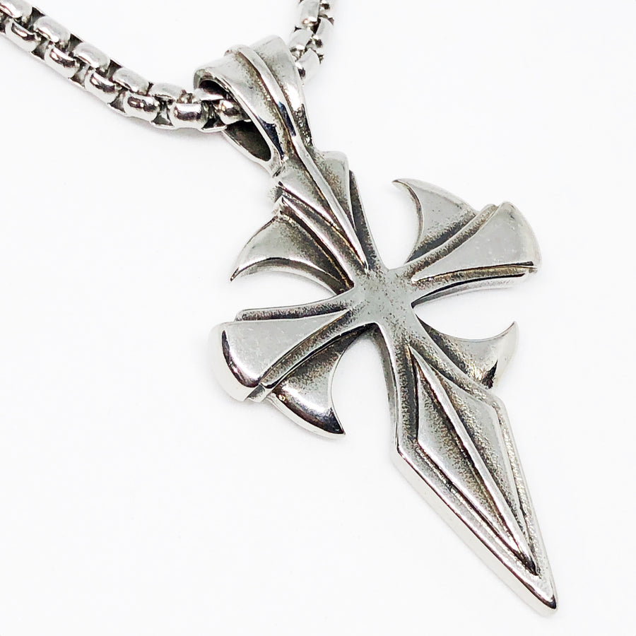Gallant Cross Stainless Steel Necklace