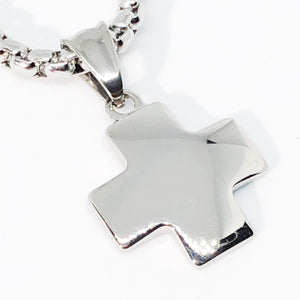 Balanced Cross Stainless Steel Necklace