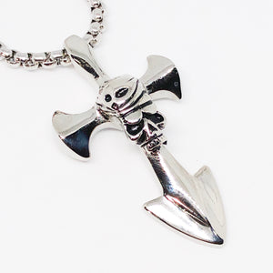 Skull Cross Stainless Steel Necklace