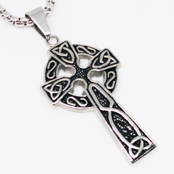 Big Celtic Cross Stainless Steel Necklace
