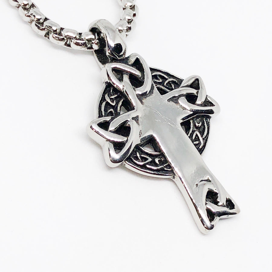 Celtic Cross Stainless Steel Necklace