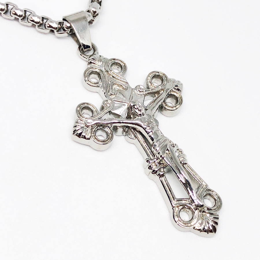Crucifix Cross Stainless Steel Necklace