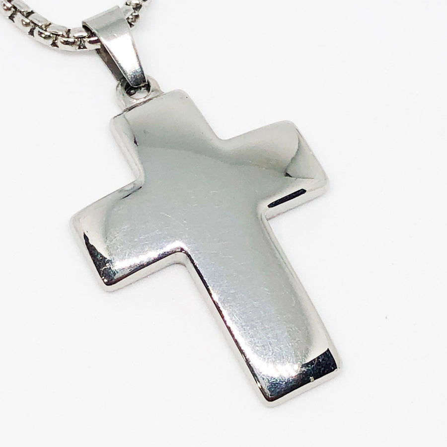 Medium Cross Stainless Steel Necklace