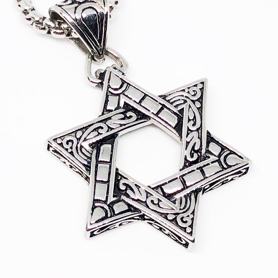 Star of David Stainless Steel Necklace