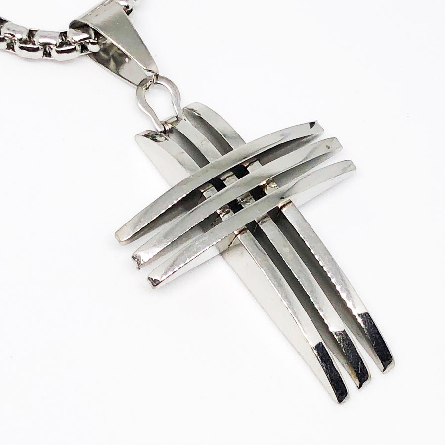 Boulevard Cross Stainless Steel Necklace