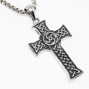 Classic Celtic Cross Stainless Steel Necklace