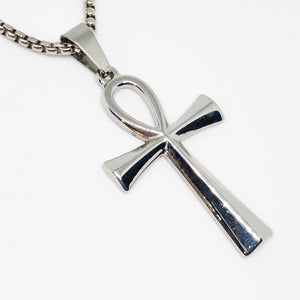 Ankh Cross Stainless Steel Necklace