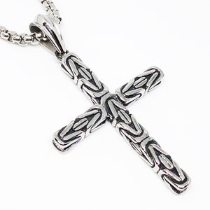Byzantine Cross Stainless Steel Necklace