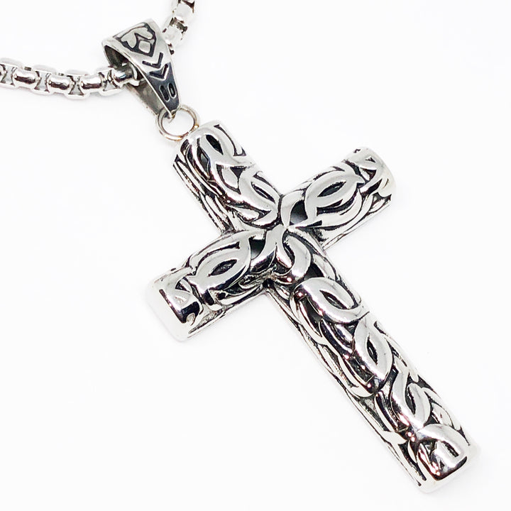Bali Cross Stainless Steel Necklace