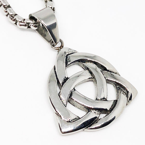 Celtic Knot Holy Trinity, Stainless Steel Necklace