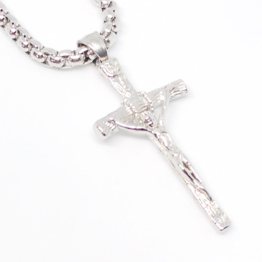 Divinity Crucifix Cross Stainless Steel Necklace