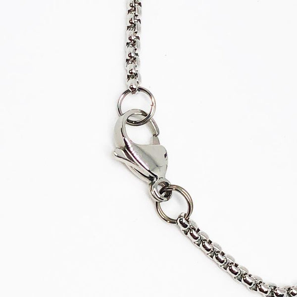 Futball Soccer Ball Stainless Steel Necklace