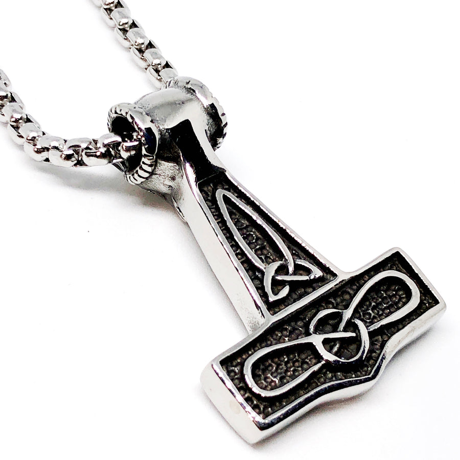 Thor's Hammer Stainless Steel Necklace
