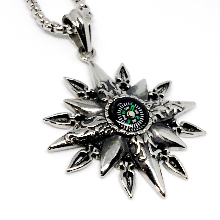 Compass Stainless Steel Necklace