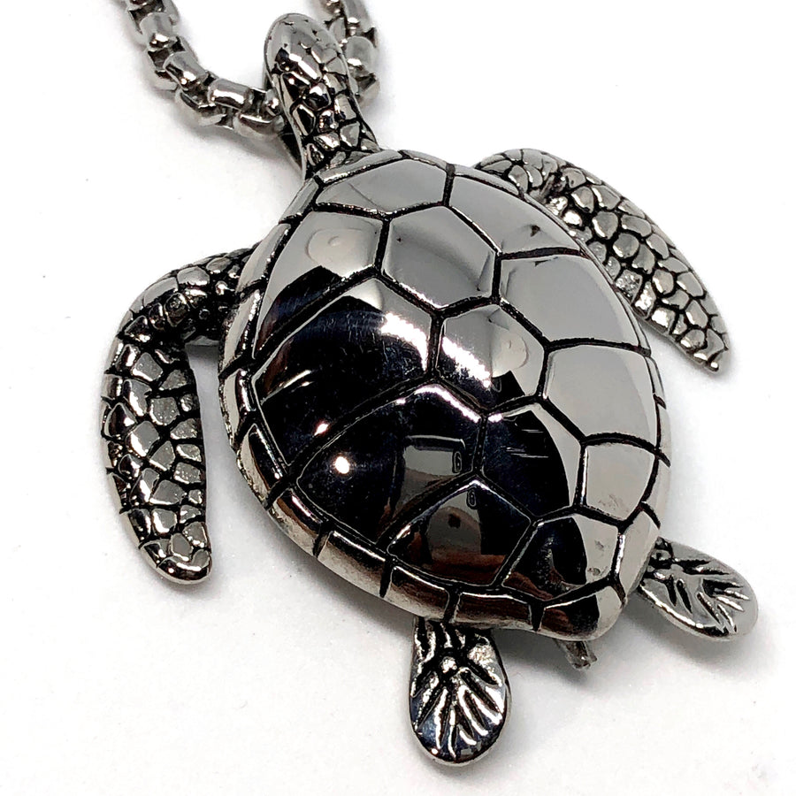 Sea Tortoise Stainless Steel Necklace