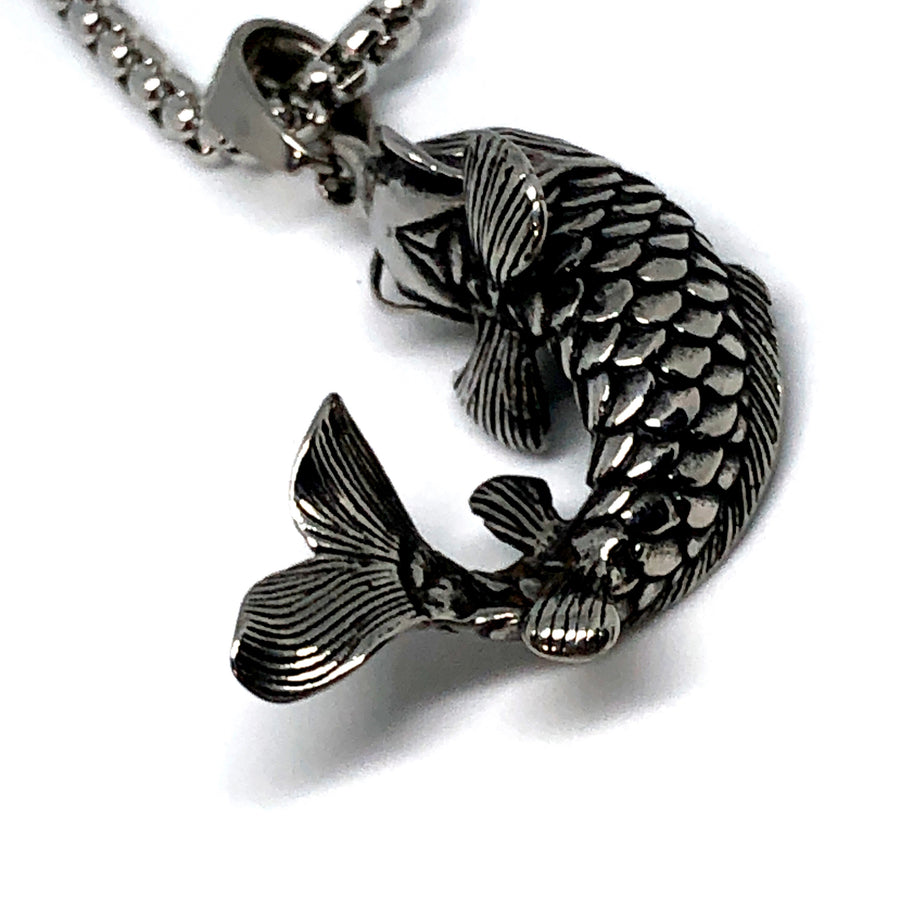 Crazy Fish Stainless Steel Necklace