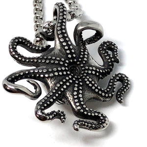Big Octopus Stainless Steel Necklace