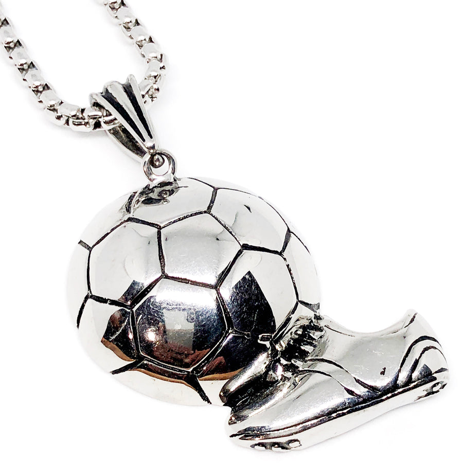 Futball Soccer Shoe Stainless Steel Necklace