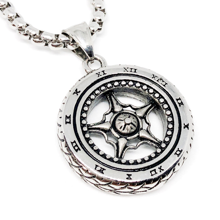 Car Wheel Stainless Steel Necklace