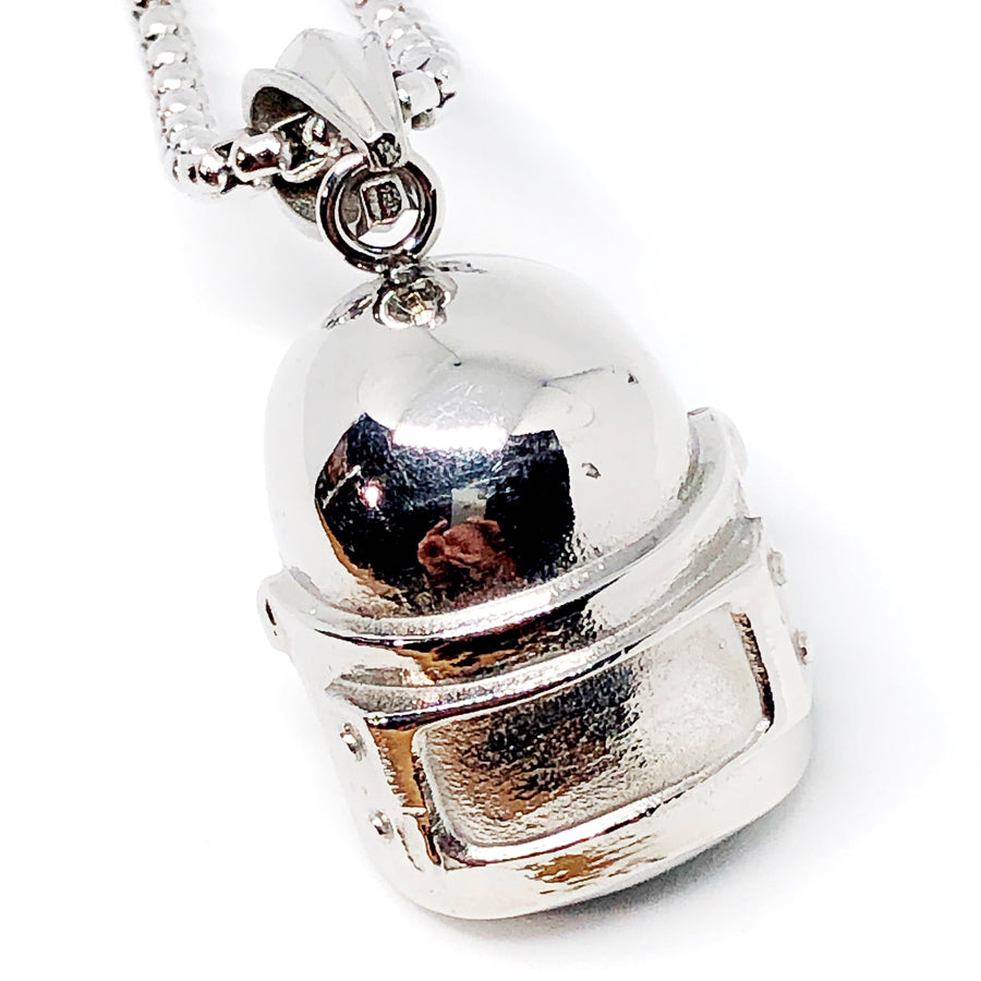 Motorcycle Helmet Stainless Steel Necklace