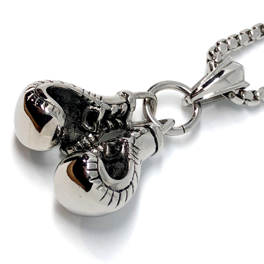 Boxing Gloves Stainless Steel Necklace