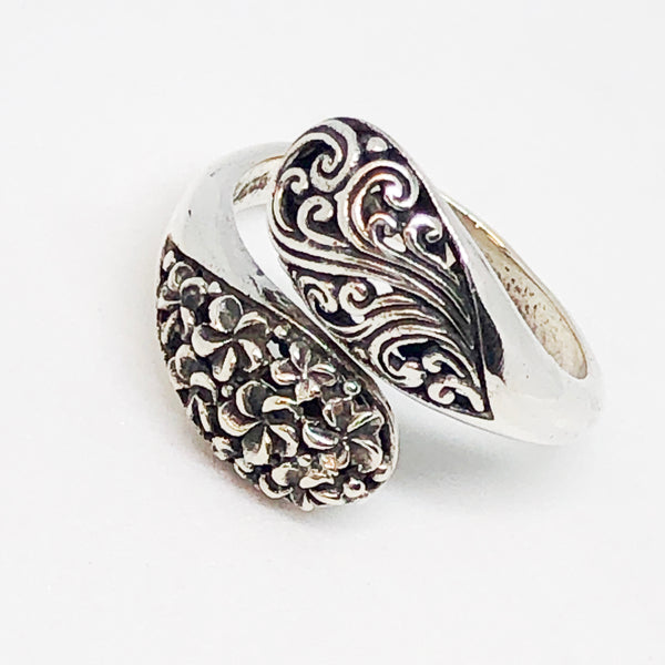 Floral Drops Sterling Silver Ring