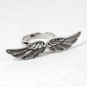 Open Wings Sterling Silver Ring