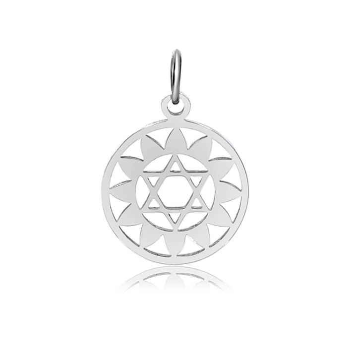 4th Chakra, Anahata, Charm Me Stainless Steel Necklace